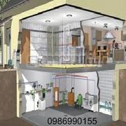 Професмонтаж и расчет систем отопления,  водоснабжения и канализации.